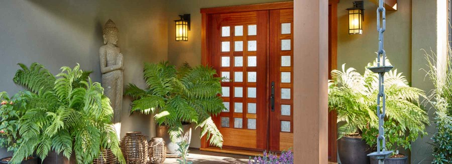 Asian Craftsman Entry Doors