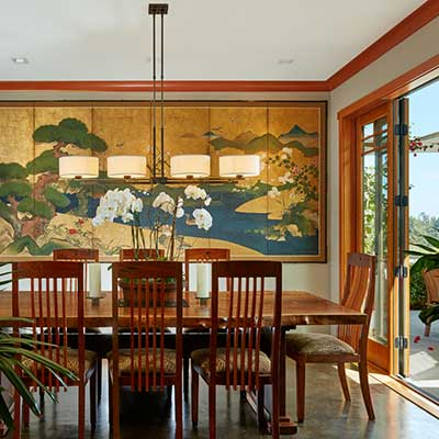 Asian modern dining room