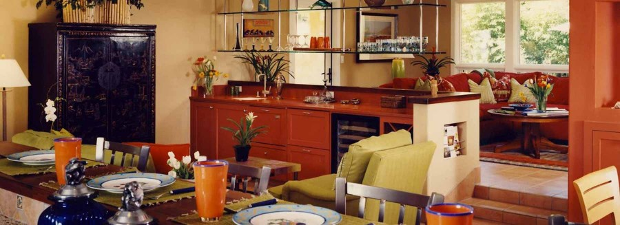 Spanish Bungalow - View from kitchen to living room