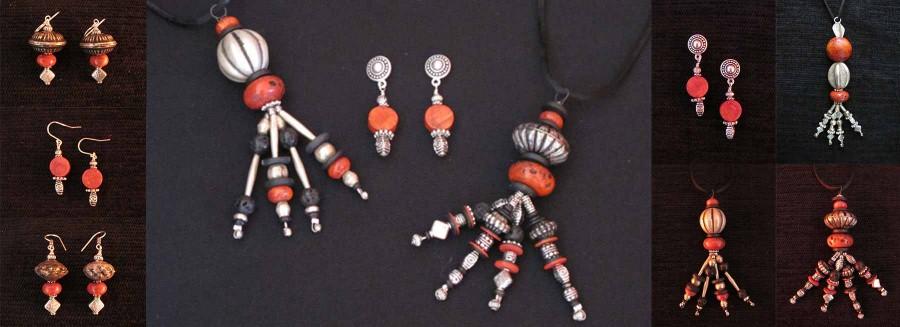 Kay Heizman Jewelry - The Black/Silver/Rust Group