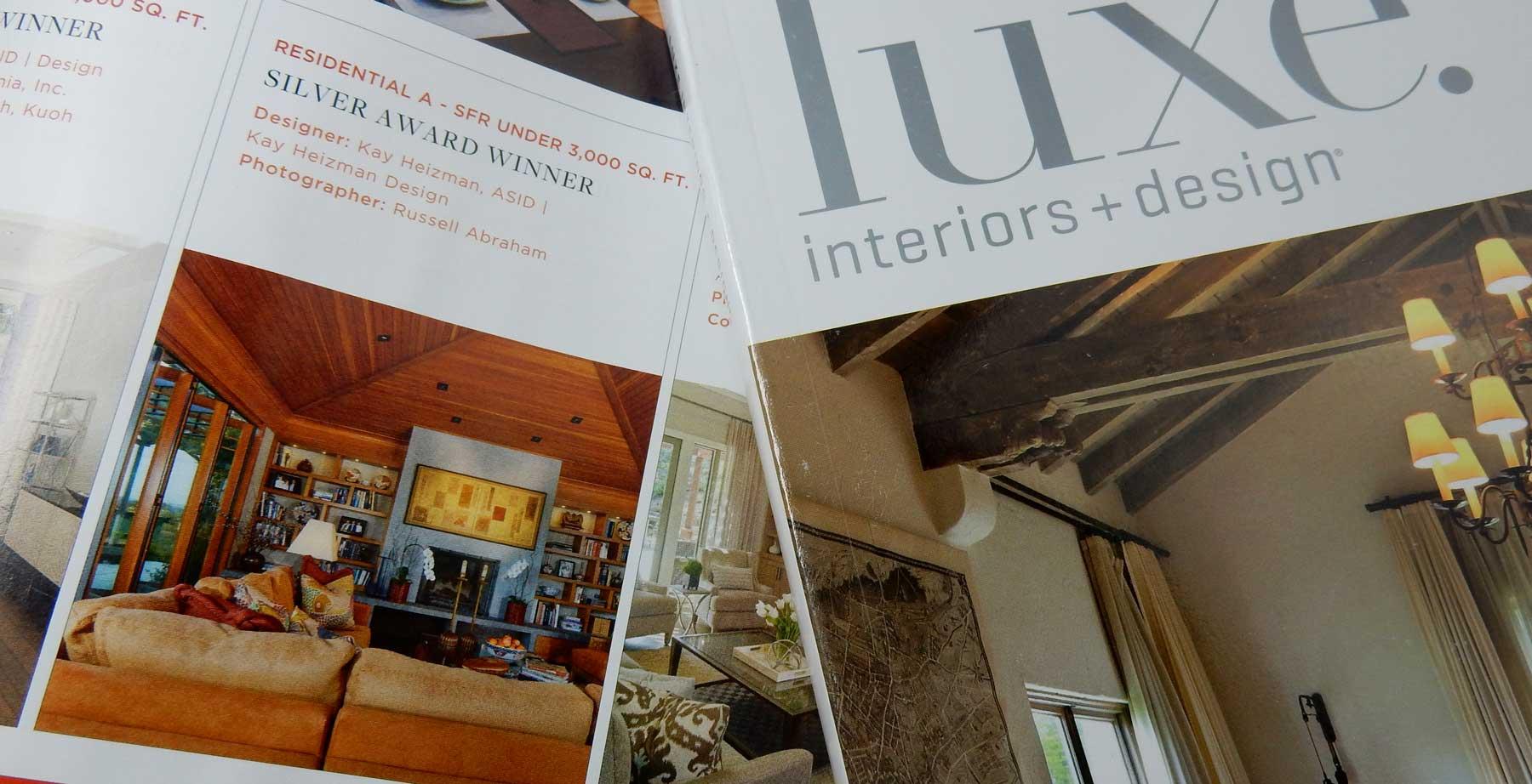 Interior Design Award Luxe Magazine