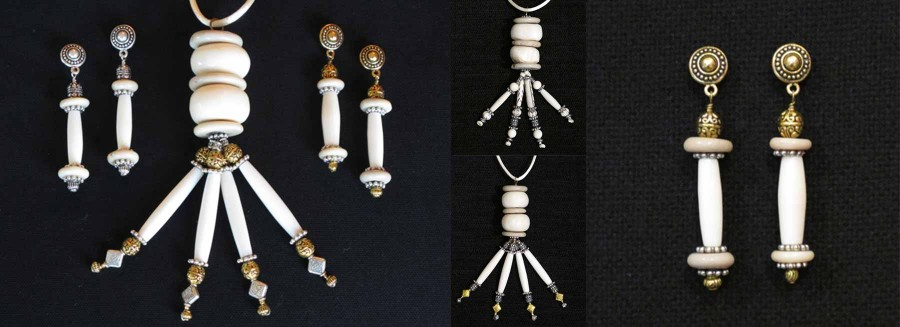 Kay Heizman Jewelry - The White/White/Silver Group